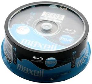 Maxell Płyta Blu-ray BD-R 25GB Cake 25 szt. - 2874991703