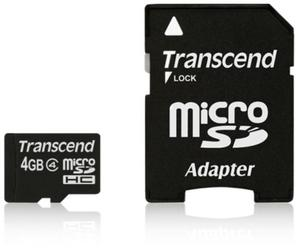 Transcend Karta pamięci micro SDHC 4GB klasa 4 - 2874992502