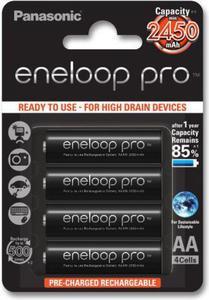 Panasonic Akumulatory AA Eneloop Pro 2450mAh 4szt. - 2874992976