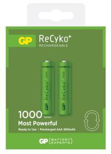 GP Batteries Akumulatorek AAA Recyko+ 1000mAh 2 szt. - 2874992987