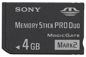 Sony Karta pamięci MemoryStick Pro Duo 4GB - 2874993047