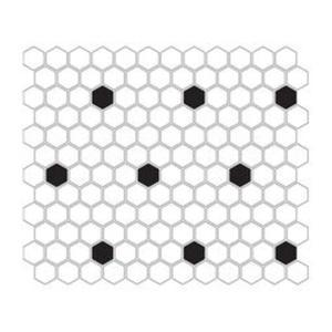 Mini Hexagon B&W Spot Mozaika 26x30 - 2836665001