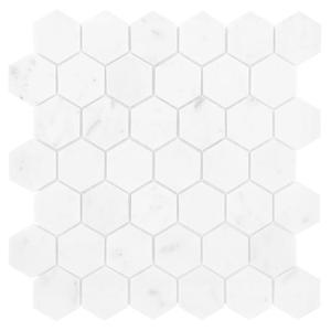 Carrara White Hexagon 48 Mozaika Kamienna 29,8x30,2 - 2876576750