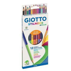 Kredki ołówkowe dwustronne GIOTTO Stilnovo Bicolor - 12 szt. - 2857028841
