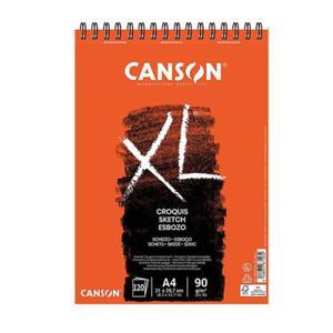 Szkicownik Croquis XL Canson - na spirali od góry - 90g, 60ark., A4 - 2865872494
