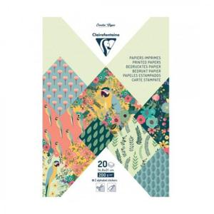 Blok papierów do scrapbookingu Clairefontaine Creativ Paper 14,8x21cm - zestaw Kiribati - 2869834931