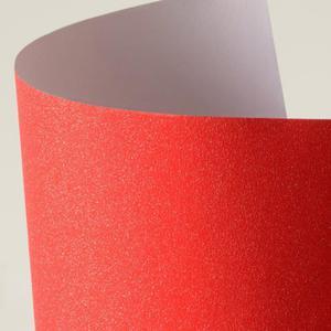 Arkusz samoprzylepny brokatowy A4 - czerwony - 2860079366