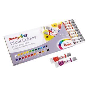 Zestaw farb akwarelowych PENTEL Water Colours 24 kol. - tubki - 2897840292