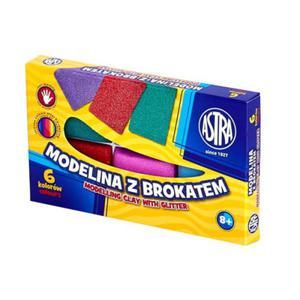 Modelina kwadratowa Astra 6 kolorów - z brokatem - 2824729981