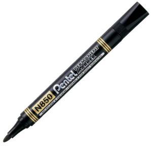 Marker permanentny N850 Pentel - okrągły - czarny - 2824730784