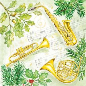 Serwetki do decoupage 33x33cm CHRISTMAS MUSIC - 2824732475