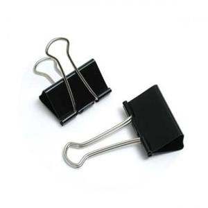 Klip, klips biurowy metalowy, czarny 19mm - 2842298374