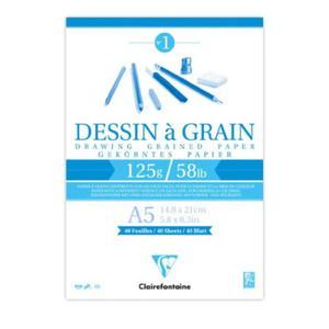 Szkicownik Dessin a Grain Clairefontaine - 125g, A5 - 2824732701