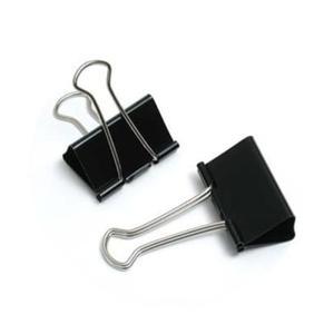 Klip, klips biurowy metalowy, czarny 15mm - 2853739153