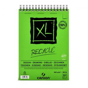 Blok rysunkowy Canson XL Recycled - 160g, 50ark, A3, na spirali - 2824732900