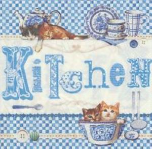 Serwetki do decoupage 33x33cm BLUE KITCHEN - 2824733915