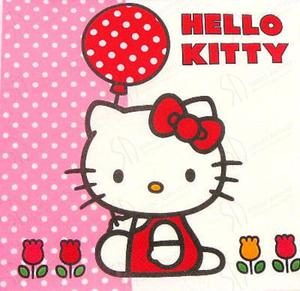 Serwetki do decoupage 33x33cm HELLO KITTY - 2824734521
