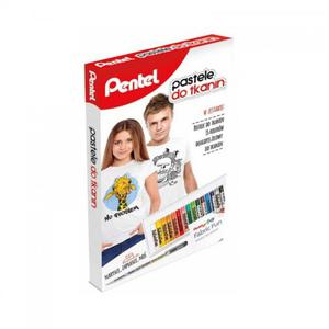 Pastele do tkanin PENTEL 15 kol. + długopis żelowy do tkanin - 2824734816