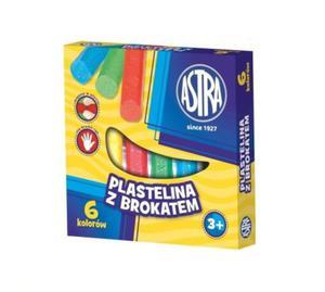 Plastelina Astra 6 kolorów - brokatowa - 2824734931