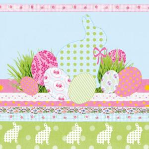 Serwetki do decoupage 33x33cm A TOUCH OF EASTER BLUE - 2824735183