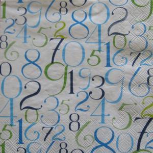 Serwetki do decoupage 33x33cm NUMERARY BLUE - 2824735202