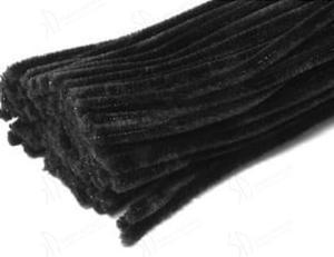 Druciki kreatywne, wyciory 30cm - zestaw 25 szt. - czarne - 2824735490