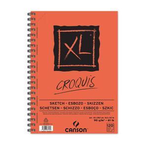 Szkicownik Croquis XL Canson - na spirali - 90g, 60ark., A5 - 2833955039