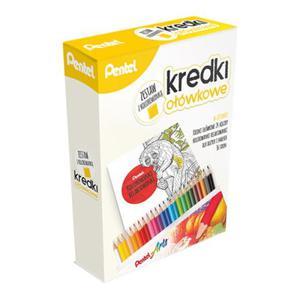 Kredki ołówkowe PENTEL z kolorowanką ( zestaw ) - 2840734649