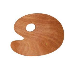 Paleta drewniana OWALNA 25x30x0,3 cm - 2824728937