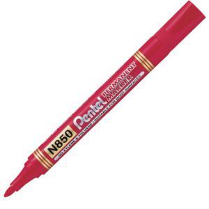 Marker permanentny Pentel czerwony okrągły - 2846220795