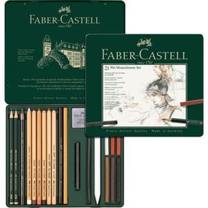 Zestaw węgli rysunkowych Pitt Monochrome FABER-CASTELL 21 sztuk - 2847251375