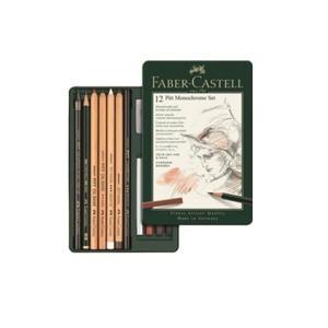 Zestaw węgli rysunkowych Pitt Monochrome FABER-CASTELL 12 sztuk - 2847251376