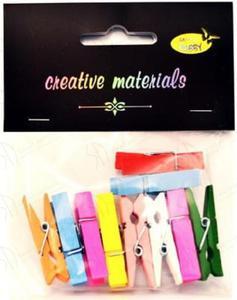 Spinacze dekoracyjne Galeria Hobby - kolorowe spinacze 35mm - 2847499619