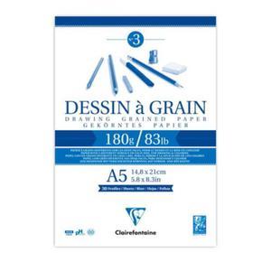 Szkicownik Dessin a Grain Clairefontaine - 180g, A5 - 2847499679