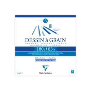 Szkicownik Dessin a Grain Clairefontaine - 180g, 21x21cm - 2847499680