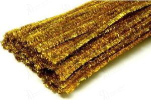 Druciki kreatywne metalizowane, wyciory 30cm - zestaw 25 szt. - złote - 2848859412