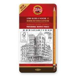Zestaw ołówków Koh-i-noor 12 szt. 6B- 6H seria DRAWING - 2848859413
