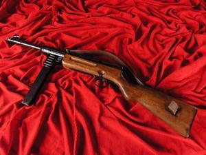PISTOLET MASZYNOWY - MP41 SCHMEISSER HAENEL Z PASEM - 2822871353