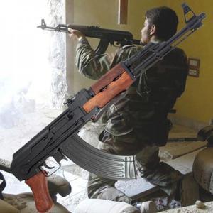 KOLEKCJONERSKI POSZUKIWANY AKS-47 KARABIN ZE SKŁADANĄ KOLBĄ - 2822870104