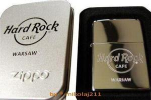 Hard Rock Cafe WARSAW ZIPPO Lighter chrome - 2827267027