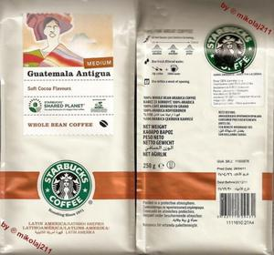 Kawa Starbucks GUATEMALA Antigua Coffee ziarnista 250g - GUATEMALA - 2827267231