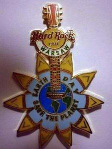 Hard Rock Cafe WARSAW - 2007 - EARTH DAY - Pin LE 200 - 2827267237