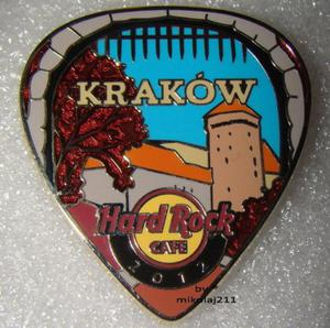 Hard Rock Cafe KRAKOW 2012 POSTCARD Guitar Pick Pin LE 200 - 2827267289