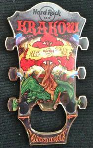 Hard Rock Cafe KRAKOW 2013 Guitar Magnet Bottle Opener - 2827267294