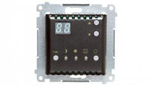 Simon 54 Regulator temperatury z wyświetlaczem, wewnętrzny czujnik temperatury antracyt DTRNW.01/48 - 2874445925