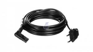 Kabel zasilający kątowy EURO (radiowy) CEE 7/16 - IEC 320 C7 5m 97355