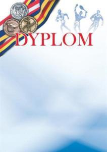Dyplom OLIMPIADA - opk 20 szt A4 - 250g/m2 dyplomy sportowe - 2833519451