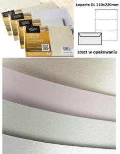 Koperta / koperty ozdobne DL - Millenium kremowy - opk 10szt/120g - 2833520079