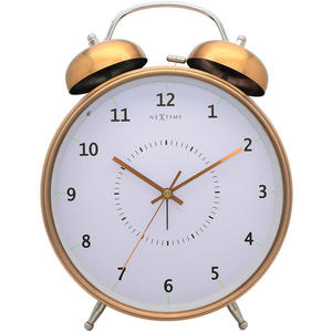 Budzik Wake Up Nextime 20cm miedziany - 2828119069