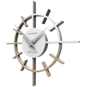 Zegar ścienny Crosshair CalleaDesign caffelatte / biały (10-018-14) - 2842066345